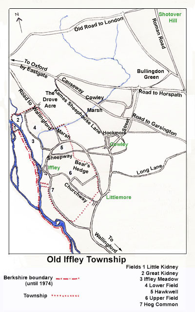 Map of the Old Iffley Township